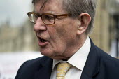 Bill Cash MP. Stop HS2 demonstration outside Parliament on the day of the second reading of the HS2 Hybrid Bill. - Philip Wolmuth - 28-04-2014