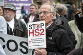Stop HS2 demonstration outside Parliament on the day of the second reading of the HS2 Hybrid Bill. - Philip Wolmuth - 2010s,2014,activist,activists,against,anti,campaign,campaigner,campaigners,campaigning,CAMPAIGNS,DEMONSTRATING,demonstration,DEMONSTRATIONS,development,high,Hillingdon,HS2,London,outside,Parliament,pr