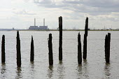 Disused dock on the Kent shore of the Thames estuary opposite Tilbury Power Station. The station burns coal, cofires oil and biomass, and is operated by RWE NPower. - Philip Wolmuth - 2010s,2014,carbon,CO2,coal,coast,coastal,coasts,country,countryside,derelict,DERELICTION,Disused,dock,EBF,Economic,Economy,ELECTRICAL,electricity,emissions,energy,eni,environment,Environmental Issues,