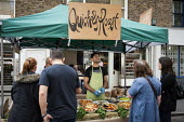 Stall at Chalton Street market, Camden, London - Philip Wolmuth - 2010s,2014,and,away,BAME,BAMEs,black,BME,bmes,bought,business,buy,buyer,buyers,buying,chef,chefs,cities,city,commodities,commodity,consumer,consumers,cook,COOKERY,cooking,cooks,Council Services,Counci