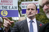 Douglas Carswell MP. UKIP lobby of Parliament against the handover of legal powers, including the European Arrest Warrant, to the EU. Old Palace Yard, Westminster, London. - Philip Wolmuth - 10-11-2014