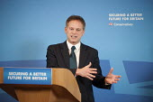 Conservative Party Chair Grant Shapps MP gives an election press conference, Westminster, London. - Philip Wolmuth - 2010s,2015,campaign,campaigning,CAMPAIGNS,conference,conferences,Conservative,Conservative Party,conservatives,DEMOCRACY,election,elections,General Election,lectern,London,Party,POL,political,politici