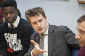 Tristram Hunt MP visiting Little Ilford School in Newham, London, to discuss the schools work with Stonewall on its campaign against homophobic bullying. - Philip Wolmuth - ,2010s,2015,against,anti gay,antigay,BAME,BAMEs,Black,BME,bmes,campaign,campaigning,CAMPAIGNS,communicating,communication,conversation,conversations,democracy,dialogue,discourse,discuss,discusses,disc