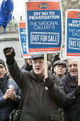 National Gallery staff at a march and rally in Trafalgar Square, London, during a five-day strike by PCS members following a decision to privatise their jobs. - Philip Wolmuth - 05-02-2015