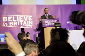Nigel Farage addressing press and supporters at the UKIP launch of its General Election campaign in the Movie Starr cinema, Canvey Island, South Essex. - Philip Wolmuth - ,2010s,2015,camera,cameras,campaign,campaigning,CAMPAIGNS,cinema,conference,conferences,DEMOCRACY,Election,elections,eurosceptic,Euroscepticism,eurosceptics,General Election,launch,media,photographer,