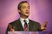 Nigel Farage addressing press and supporters at the UKIP launch of its General Election campaign in the Movie Starr cinema, Canvey Island, South Essex. - Philip Wolmuth - 2010s,2015,campaign,campaigning,CAMPAIGNS,cinema,conference,conferences,DEMOCRACY,Election,elections,eurosceptic,Euroscepticism,eurosceptics,General Election,launch,POL,political,POLITICIAN,politician