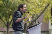 Podemos secretary general Pablo Iglesias at a rally in Malaga a week before Andalusian parliamentary elections in which the grassroots party is hoping to make significant gains. - Philip Wolmuth - 2010s,2015,Andalusia,campaign,campaigning,CAMPAIGNS,candidate,candidates,democracy,Election,elections,eu,european,europeans,eurozone,party,Podemos Party,POL,political,POLITICIAN,POLITICIANS,politics,r