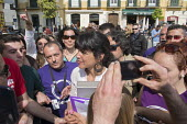 Podemos presidential candidate Teresa Rodriguez at a rally in Malaga a week before Andalusian parliamentary elections in which the grassroots party is hoping to make significant gains. - Philip Wolmuth - 14-03-2015
