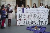 She Didnt Die, She was Murdered. Women Survivors of Gender Violence in the South demonstrate outside the municipal government building in Malaga, Spain - Philip Wolmuth - 11-03-2015