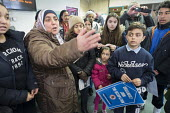 Esmaa Guernaoui confronts Barnet council leader Richard Cornelius. Former residents of Sweets Way estate in Whetstone, Barnet, London, now living in emergency accommodation outside the borough, occupy... - Philip Wolmuth - 21-03-2015