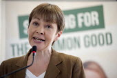 Caroline Lucas. Green Party general election manifesto launch, Dalston, London. - Philip Wolmuth - 14-04-2015
