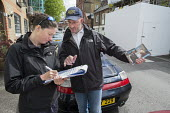 Conservative candidate Simon Marcus canvassing in Hampstead and Kilburn, the second most marginal constituency in the UK, held by Labour with a majority of 42 at the 2010 general election. - Philip Wolmuth - 25-04-2015