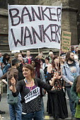 Banker Wankers. End Austerity Now, national demonstration organised by the Peoples Assembly, London. - Philip Wolmuth - 20-06-2015