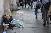 Homeless man sleeping on the street Holborn London - Philip Wolmuth - 2010s,2015,age,ageing population,asleep,baggar,beg,beggar,beggars,BEGGER,begging,begs,care,cities,City,communities,community,elderly,EQUALITY,excluded,exclusion,EXHAUSTION,HARDSHIP,homeless,homelessne