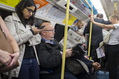 Crowded Jubilee Line carriage at rush hour London. - Philip Wolmuth - 27-08-2015
