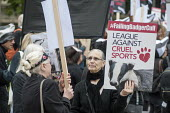 Animal welfare group Team Badger protest against Badger cull Westminster London - Philip Wolmuth - 08-09-2015