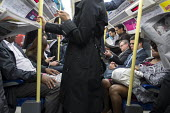 Crowded rush hour tube train carriage on the London underground - Philip Wolmuth - 30-09-2015