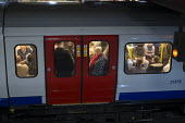 Crowded rush hour tube train carriage, London underground - Philip Wolmuth - 05-10-2015