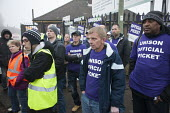 Unison picketing Mill Hill Depot, strike against outsourcing of council services, Barnet, London - Philip Wolmuth - Trades Union,2010s,2015,against,Anti privatisation,Anti privatisation,anti privatization,BAME,BAMEs,black,bme,bme.poc,BME black,bmes,council,council services,council services,cultural,DISPUTE,DISPUTES