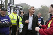 Dave Prentis Unison joins picket of Mill Hill Depot, strike against outsourcing of council services, Barnet, London - Philip Wolmuth - 02-11-2015