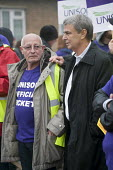 Dave Prentis Unison joins picket of Mill Hill Depot, strike against outsourcing of council services, Barnet, London - Philip Wolmuth - Trades Union,2010s,2015,against,Anti privatisation,Anti privatisation,anti privatization,council,council services,council services,DISPUTE,DISPUTES,early morning,employment,gate gates,INDEPENDENT,INDU