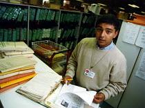 Apprentice at Camden Records Office - Joanne O'Brien - 1990s,1997,Apprentice,APPRENTICES,apprenticeship,asian black,BAME,BAMEs,Black,BME,BME black,bmes,diversity,employee,employees,Employment,ethnic,ethnicity,europeregi,job,jobs,LAB LBR work,LBR,minoritie