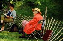 Elderly woman at Chelsea Flower Show London - Joanne O'Brien - 20021024