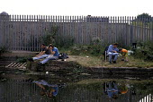Anglers Fishing on the Regents Canal, Hackney East London. 1992, ... - Paul Mattsson - 27-07-1992