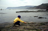 Child Feeds a piece of Bread to a Seagull, Robin Hoods Bay, North Yorkshire Coast. 1992, ... - Paul Mattsson - 28-12-1992