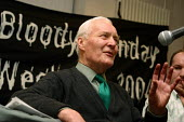Tony Benn, guest speaker at Bloody Sunday 32nd Anniversary, Derry, Northern Ireland - Joanne O'Brien - 2000s,2004,Anniversary,Bloody,Derry,Ireland,IRISH,Labour Party,Londonderry,Northern Ireland,POL politics Irish