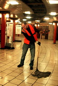 Bulgarian London Tube cleaner who works at night at Piccadilly Circus. - Joanne O'Brien - 20051117