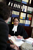 Poonam Bhari, barrister specialising in family law taking instructions from client in her chambers, London - Joanne O'Brien - 21-12-2006