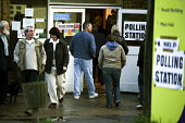 North London polling station on 1. May 2008 for London Mayoral & Assembley elections. The turnout was nearly 48, a fifth higher than the previous mayoral election. - Joanne O'Brien - 01-05-2008