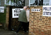 Voters at a North London polling station on 1. May 2008 for London Mayoral & Assembley elections. The turnout was nearly 48, a fifth higher than the previous mayoral election. - Joanne O'Brien - 01-05-2008