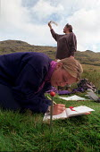 Field trip: Environmental sciences in the Lake District. - Roy Peters - 1990s,1996,EDU education,ENVIRONMENT,Environmental,female,geography,HIGHER EDUCATION,LEARNING,MEASURE,measurement,MEASURING,notes,outdoors,practical,STUDENT,STUDENTS,study,STUDYING,UNDERGRADUATE,under