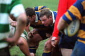 University rugby match. hooker about to lock in scrum - Roy Peters - 19-11-1997