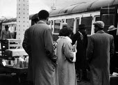 Immigrants at a London railway station starting on their journey back to the West Indies in fear of their lives following the Notting Hill race riots of 1958. - Alan Vines - 24-09-1958