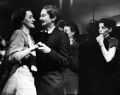 Lesbian women dancing, The Gateways Club, Chelsea, 1953, The Gates was one of the only places where lesbian women could meet openly and be together - Alan Vines - 14-03-1953