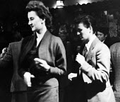 Lesbian women dancing together, The Gateways Club, Chelsea, 1953, The Gates was one of the only places where lesbian women could meet openly and be together - Alan Vines - 14-03-1953