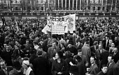 Anti-Apartheid rally in central London calling for a boycott of South African goods,1959. - Alan Vines - ,1950s,1959,AAM,activist,activists,African,against,ant-apartheid,Anti Apartheid Movement,Anti-Apartheid,Apartheid,bigotry,boycott,CAMPAIGN,campaigner,campaigners,CAMPAIGNING,CAMPAIGNS,DEMONSTRATING,de