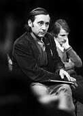 Author, Alan Sillitoe, on the set of This Foreign Field, his first ever play written for the stage, at the Oval Theatre in London in 1970. - Bente Fasmer - 25-03-1970