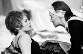 The Maids by Jean Genet staged at the Greenwich Theatre in London, 1974, starring Susannah York as Claire & Glenda Jackson as Solange. - Bente Fasmer - 14-02-1974