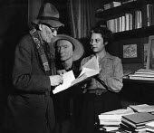 Author, Andre Gide, winner of the 1947 Nobel Prize for Literature, with his secretary Yvonne Davet, at home in Antibes, France, 1949. Davet herself later received recognition for her translation into... - Dominique Darbois - 28-06-1949