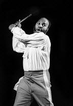 The Emperor Jones by Eugene O'Neill, Dark & Light Theatre, Brixton, 1973.  Thomas Baptiste as Brutus Jones. - David Morris - 25-04-1973