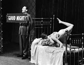 The Lyric Revue, Lyric Theatre, London, 1951, based on music by Noel Coward , Donald Swann and others. Actors, Jeremy Hawk, Ian Carmichael and Joan Heal in the Les Amants sketch. - Elisabeth Chat and Inge Morath - 1950s,1951,ACE,acting,actor,actors,actress,actresses,cities,city,DANCE,DANCER,DANCERS,dancing,entertainment,FEMALE,London,melody,music,musical,people,person,persons,play,PLAYING,revue,singing,stage,th