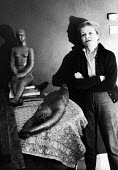 Anna Mahler, sculptor, and daughter of composer Gustav Mahler, London, 1967. - Gertie Deutsch - 1960s,1967,ACE,art,artist,artists,arts,artwork,artworks,cities,city,composer,culture,female,London,Mahler,people,person,persons,sculpture,SCULPTURES,urban,woman,women