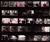 Contact sheet, with markings, of photographs of Belgian writer, Georges Simenon, Paris, 1947 by Inge Morath - Inge Morath - 1940s,1947,ACE,author,AUTHORS,Belgian,Contact,Contact sheet,eu,Europe,european,europeans,eurozone,france,french,Georges Simenon,Inge Morath,male,man,markings,men,Paris,people,person,persons,photograph