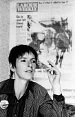Lesley Boulton deciding to take action against the South Yorkshire police for their attack on her at Orgreave on 18.6.1984 an event widely known because of John Harris iconic photo of the event, seen... - John Harris - 20-07-1984