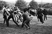 Violent clashes between miners and riot police officers on the picket lines at the Orgreave coking plant during the miners strike - John Harris - 1980s,1984,adult,adults,baton,batons,Battle of Orgreave,CLJ,DISPUTE,disputes,force,INDUSTRIAL DISPUTE,MATURE,member,member members,members,MINER,miners,MINER'S,miners strike,miners' strike,miners stri