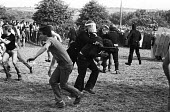 Violent clashes between miners and riot police officers on the picket lines at the Orgreave coking plant during the miners strike - John Harris - 18-06-1984